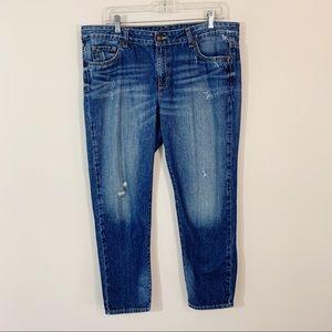 Michael Kors • Boyfriend Distressed Crop Jeans 12